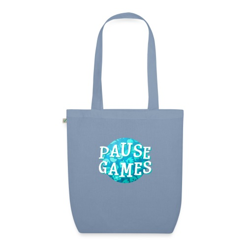Pause Games New Design Blue - EarthPositive Tote Bag