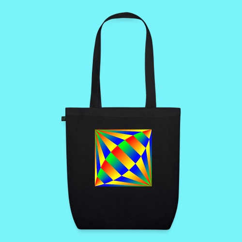 Giant cufflink design in blue, green, red, yellow. - EarthPositive Tote Bag