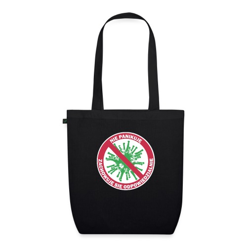 nie panikuje corona-virus - Ekologiczna torba materiałowa