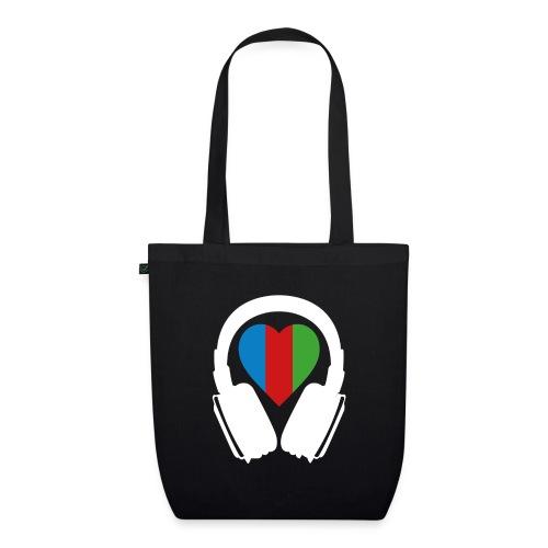 Silent Disco Headphone > Heart | white - Bio-Stoffbeutel