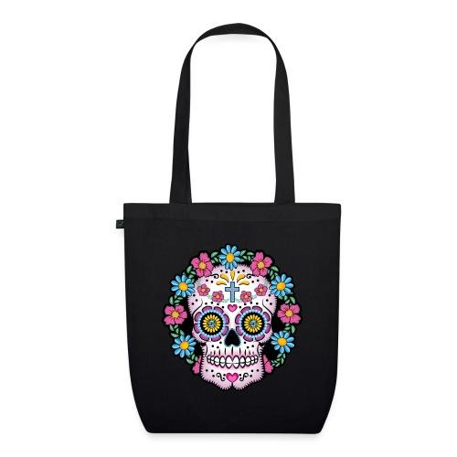 Dia de los Muertos Skull- - EarthPositive Tote Bag
