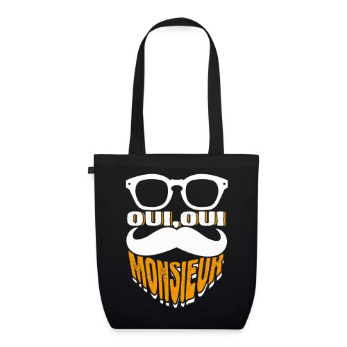 Oui Oui Monsieur Mustache Graphic French - Bio-Stoffbeutel