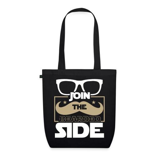 Join The Bearded Side Funny Beard Sayings - Bio-Stoffbeutel
