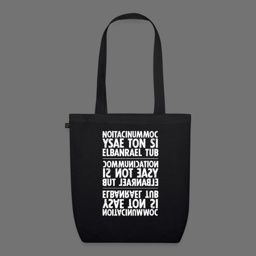 communication white sixnineline - EarthPositive Tote Bag