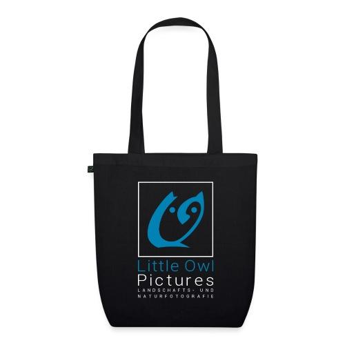 Little Owl Pictures Logo (weiß/blau) - Bio-Stoffbeutel