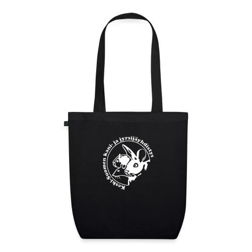 KSKJY logo- Valko-musta - Luomu-kangaskassi