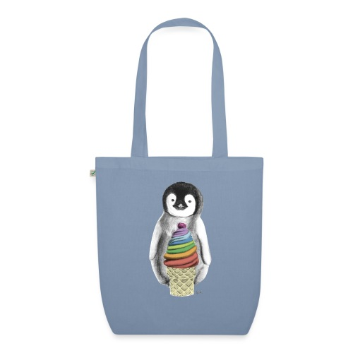 Baby Penguin With Ice Cre - EarthPositive Tote Bag