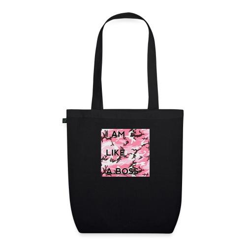 i am loke a boss premium pink camo - Bio-Stoffbeutel