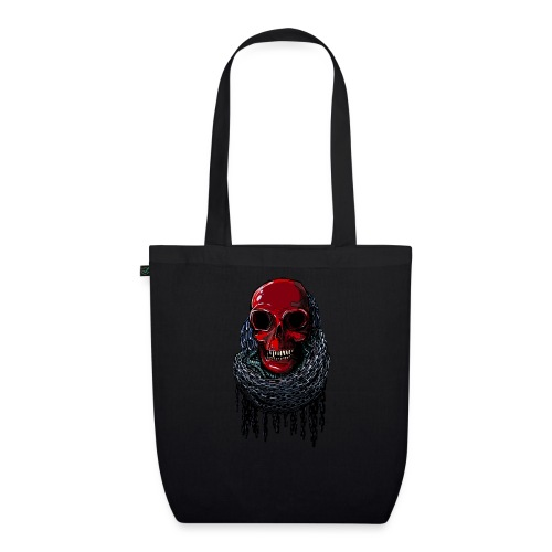 RED Skull in Chains - EarthPositive Tote Bag