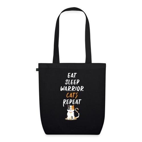 Eat sleep warrior cats repeat - Sac en tissu biologique