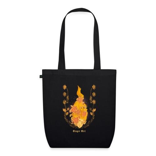 Ginger Girl design voor roodharigen - Bio stoffen tas