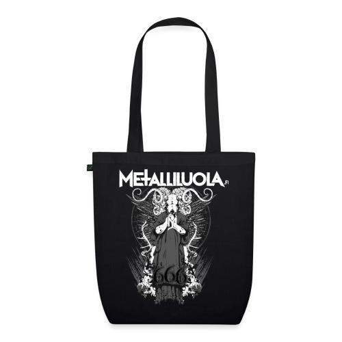 Metalliluola logo ja Demoniac 666 - Luomu-kangaskassi
