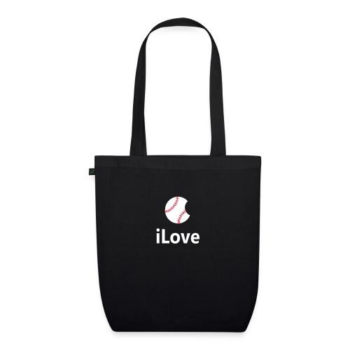 Baseball Logo iLove Baseball - EarthPositive Tote Bag
