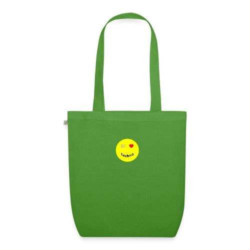 camiseta paz amor techno - Bolsa de tela ecológica