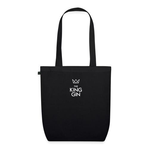 The King Gin Logo weiss - Bio-Stoffbeutel
