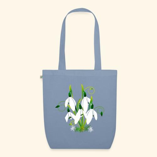 Schneeglöckchen, Blumen, Blüten, floral, Ornamente - Bio-Stoffbeutel