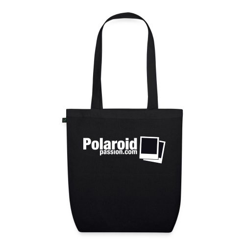 Polaroid Passion com NB Fond noir - Sac en tissu biologique