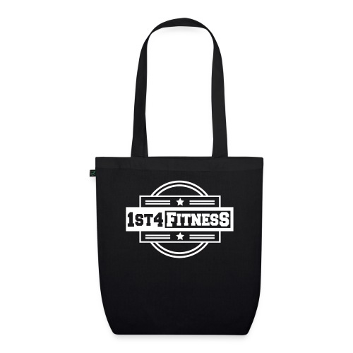 1st4Fitness White Back & Front - EarthPositive Tote Bag