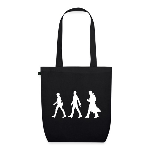 White Design With Title and Characters - EarthPositive Tote Bag