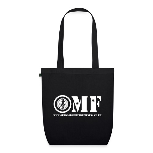 OMF white logo - EarthPositive Tote Bag
