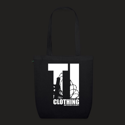 TORTURED IRON LOGO IN WHITE - EarthPositive Tote Bag