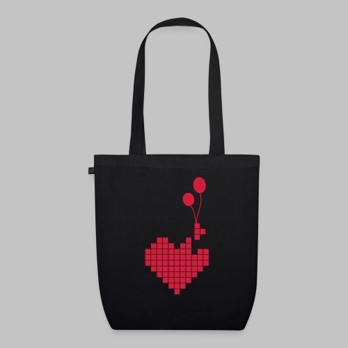heart and balloons - EarthPositive Tote Bag
