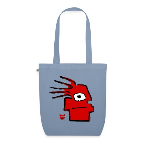 tribal red puppet - Borsa ecologica in tessuto