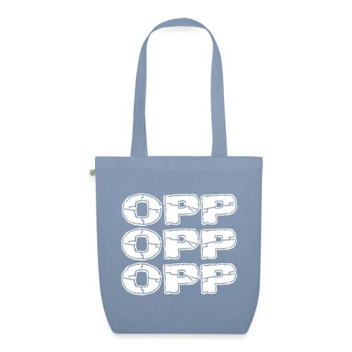 OPP Logo White - Luomu-kangaskassi