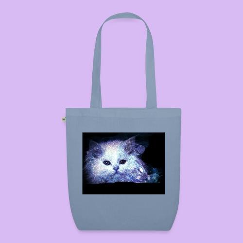 Gatto bianco glitter - Borsa ecologica in tessuto