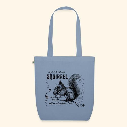 Spirit Animal Eichhörnchen schwarz - Bio-Stoffbeutel