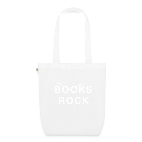 Books Rock White - EarthPositive Tote Bag
