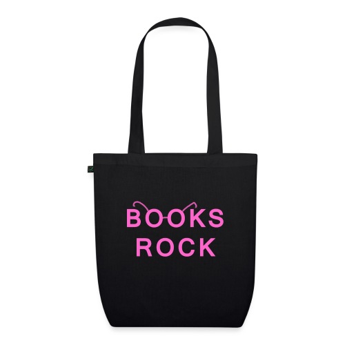 Books Rock Pink - EarthPositive Tote Bag