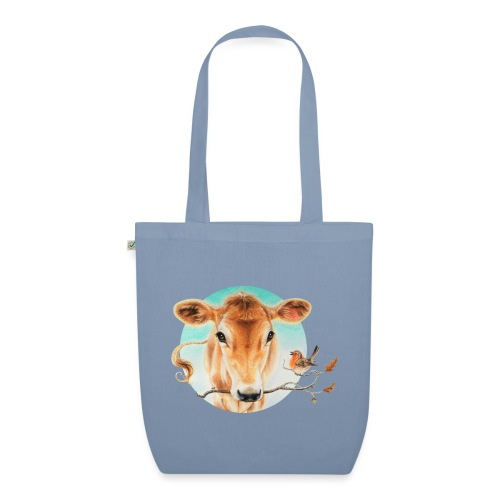 Kalfje met roodborstje - EarthPositive Tote Bag