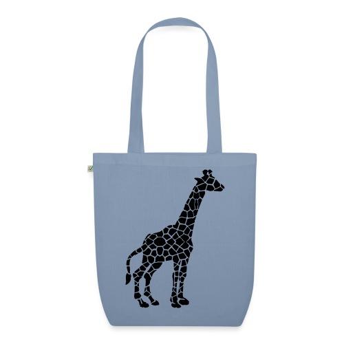 Giraffe (black) - Luomu-kangaskassi