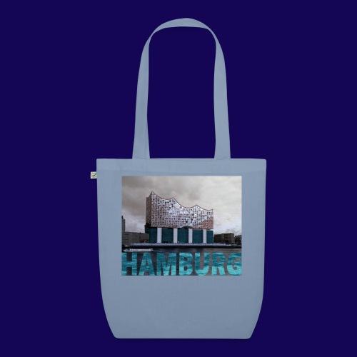 Elbphilharmonie | HAMBURG-Typo| Künstlermotiv - Bio-Stoffbeutel