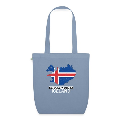 Straight Outta Iceland country map - EarthPositive Tote Bag