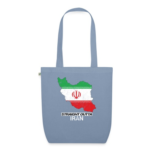 Straight Outta Iran country map & flag - EarthPositive Tote Bag
