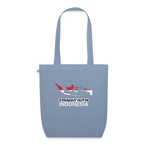 Straight Outta Indonesia country map & flag - EarthPositive Tote Bag