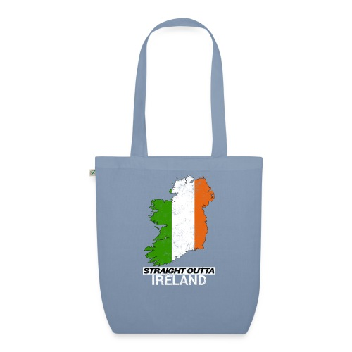 Straight Outta Ireland (Eire) country map flag - EarthPositive Tote Bag