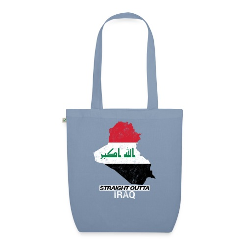 Straight Outta Iraq country map & flag - EarthPositive Tote Bag