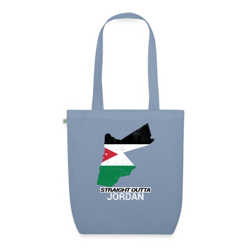 Straight Outta Jordan country map - EarthPositive Tote Bag