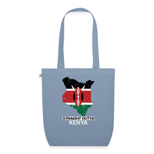 Straight Outta Kenya country map & flag - EarthPositive Tote Bag