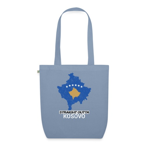 Straight Outta Kosovo country map - EarthPositive Tote Bag