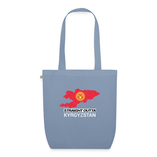 Straight Outta Kyrgyzstan country map - EarthPositive Tote Bag
