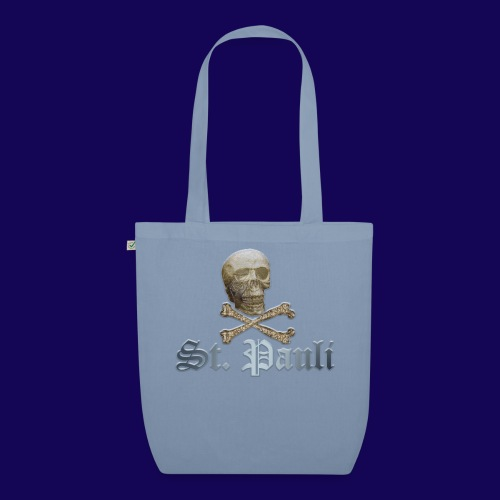 St. Pauli (Hamburg) Piraten Symbol mit Schädel - Bio-Stoffbeutel