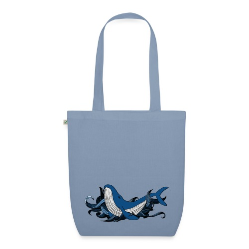Doodle ink Whale - Borsa ecologica in tessuto