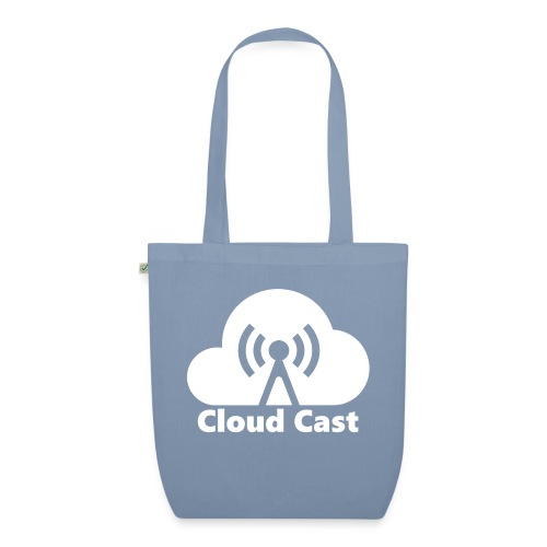 Cloud Cast White mit Schriftzug - Bio-Stoffbeutel