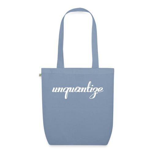 unquantize white logo - EarthPositive Tote Bag