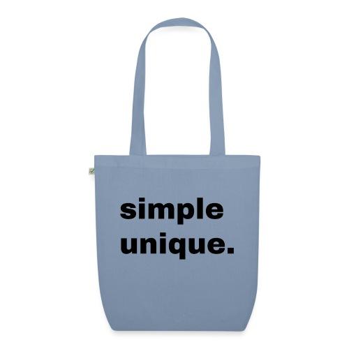 simple unique. Geschenk Idee Simple - Bio-Stoffbeutel