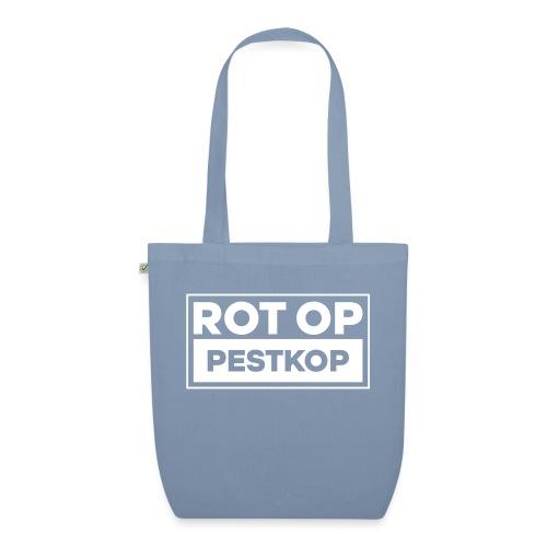 Rot Op Pestkop - Block White - Bio stoffen tas